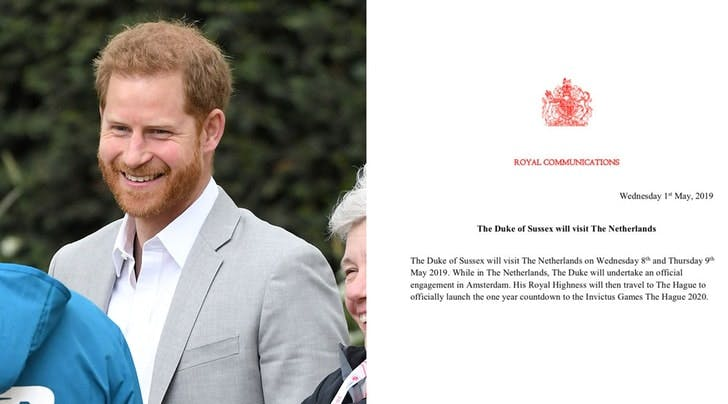 The Palace Announced a Change to Prince Harrys Netherlands Trip