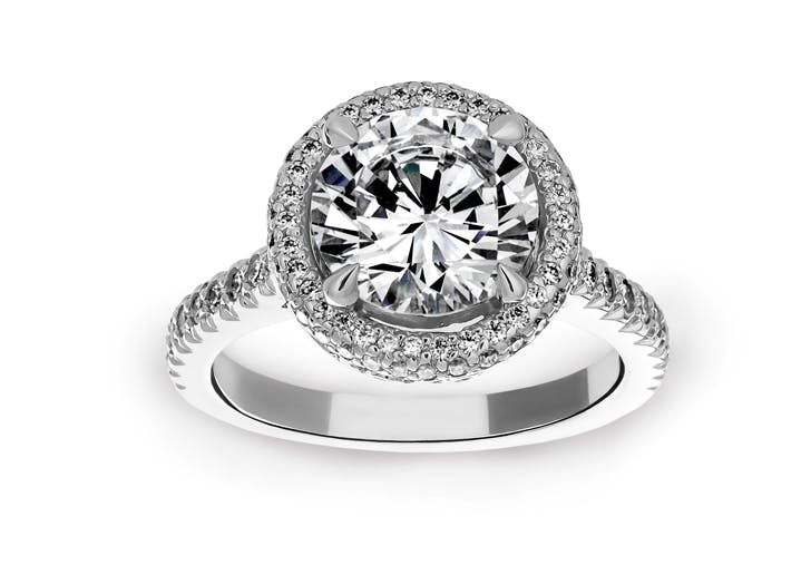 round diamond cut ring
