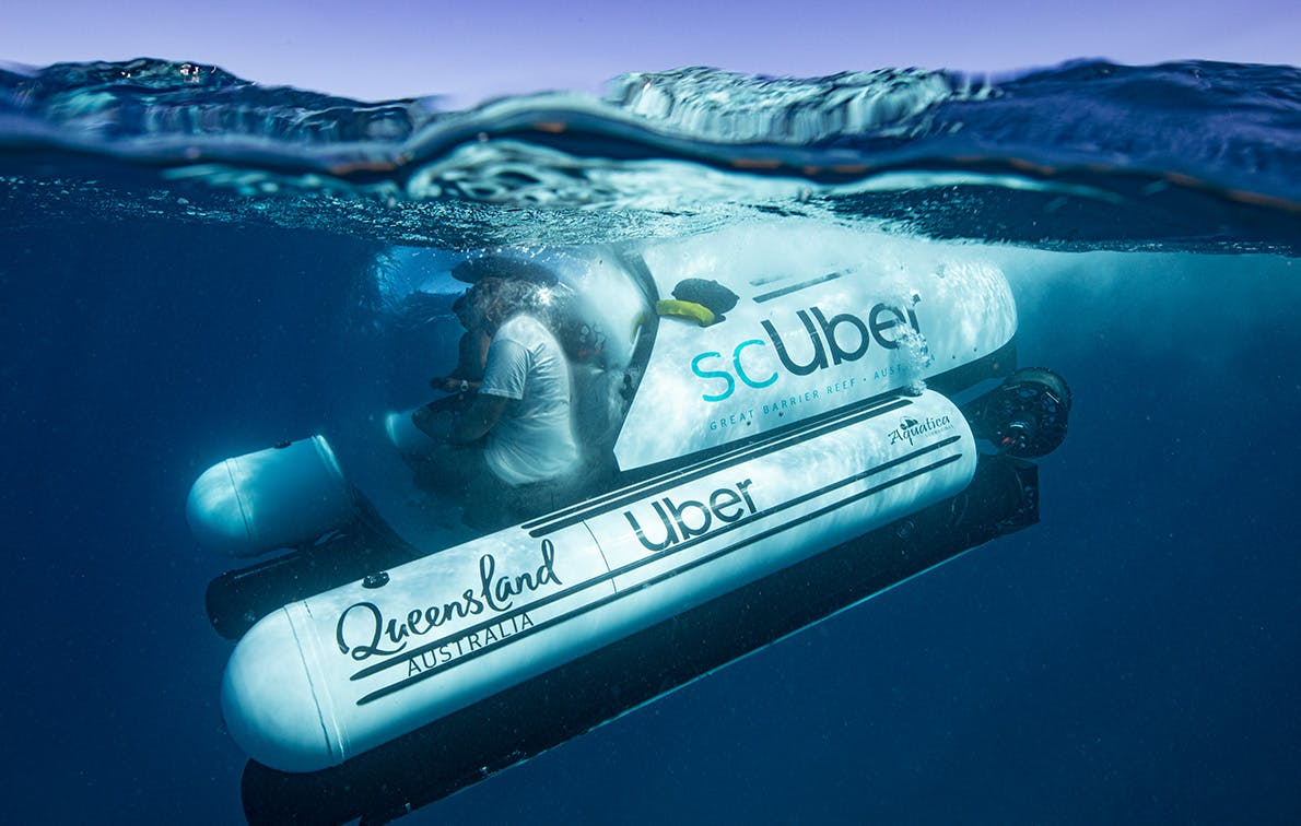 You Can Now Hail a Submarine to Explore the Great Barrier Reef Through Uber