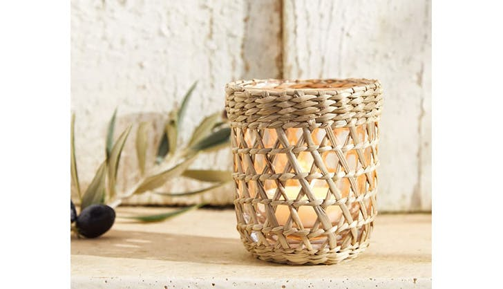 seagrass candle holder