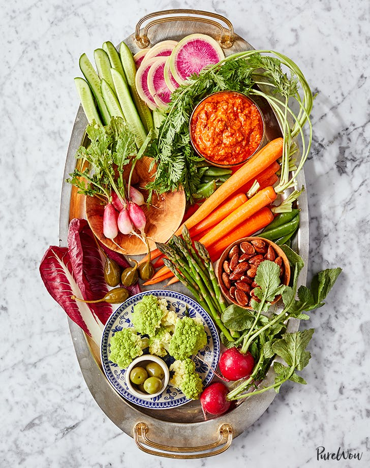 Spring Crudités with Romesco Sauce