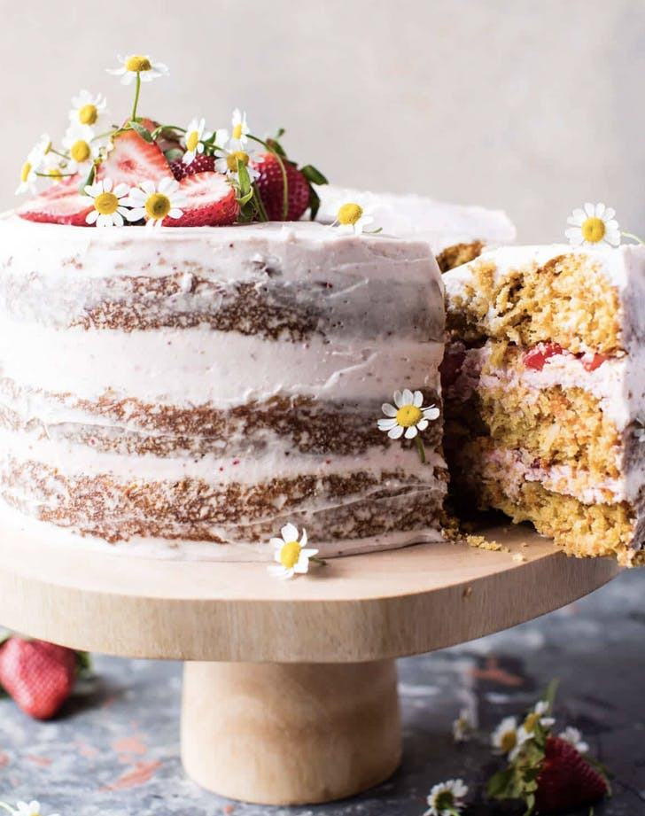 strawberry coconut carrot cake with mascarpone buttercream recipe