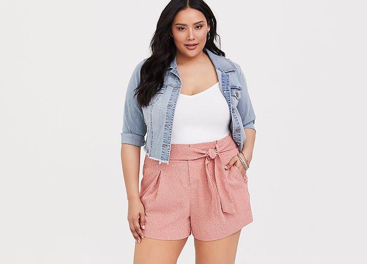 torrid plus size shorts