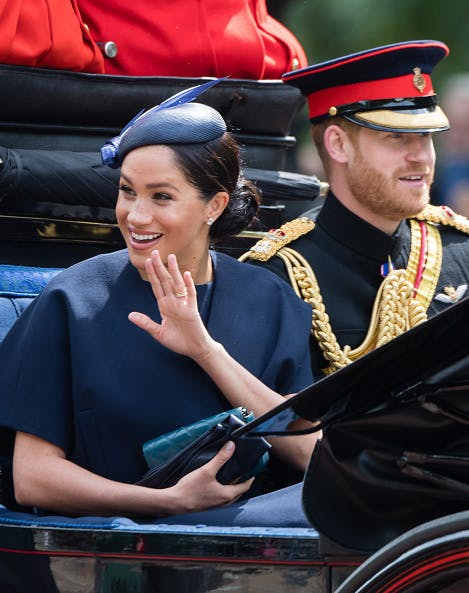 Meghan Markle wearing new ring from Prince Harry.1