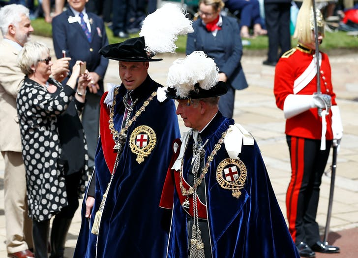 Prince William and Prince Charles at Order of the Garter 2019