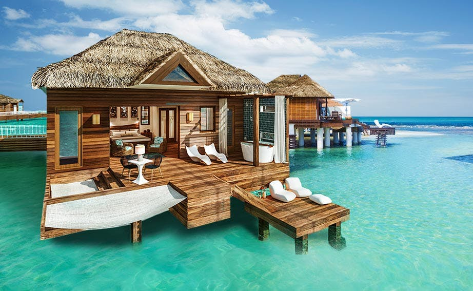 9 Overwater Bungalows Open At Sandals Grande St Lucian: 5 Overwater Bungalow Resorts With Short Flights From The