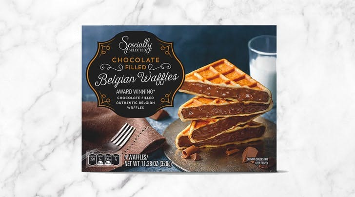 Calling All Brunch Lovers: Aldi Just Released Chocolate-Stuffed Belgian Waffles