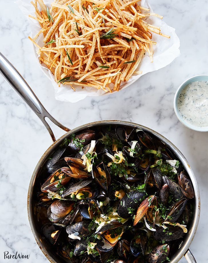 birthday dinner ideas Moules Frites Mussels And Fries Recipe