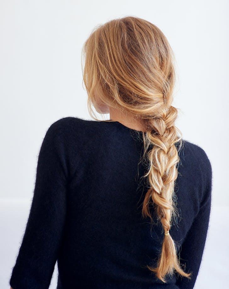 blonde loose braid