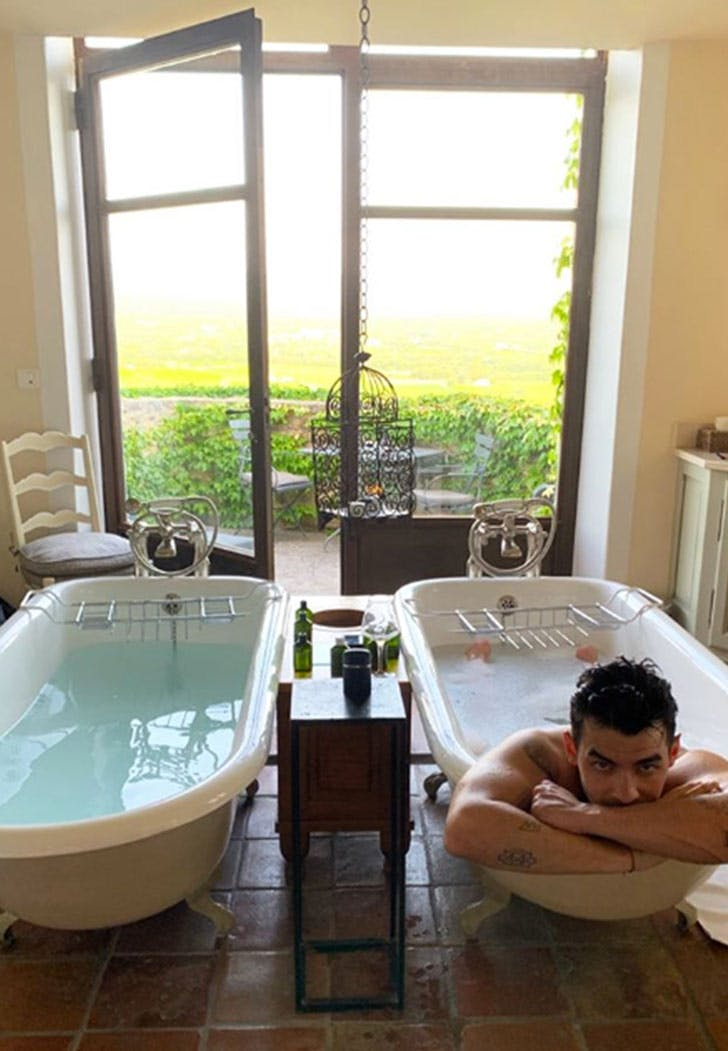 Sophie Turner Posts a Bathtub Photo of Joe Jonas Days Before Their Second Wedding in France