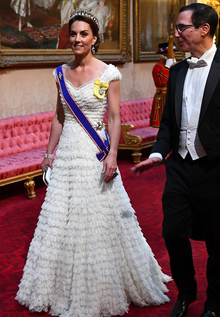 kate middleton state dinner white gown1