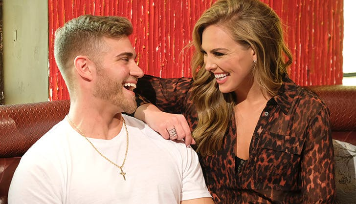 luke parker hannah brown laughing the bachelorette