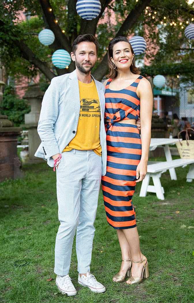 Mandy Moore Wore a $178 Dress from J.Crew for National Stripes Day