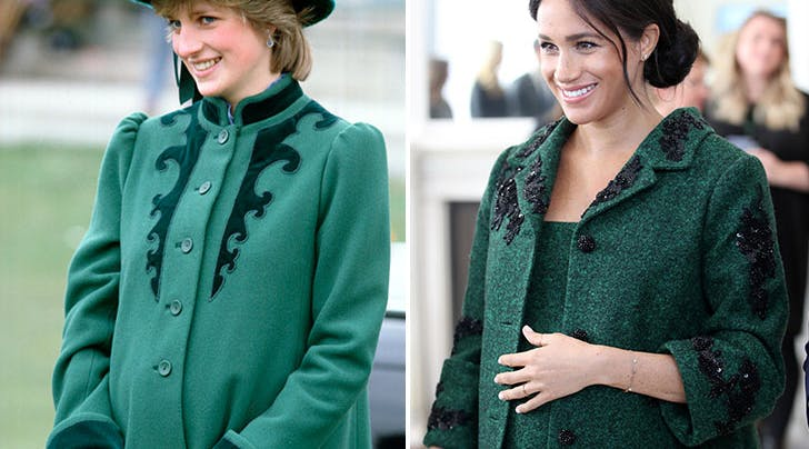 every time meghan markle took style cues from princess diana purewow every time meghan markle took style