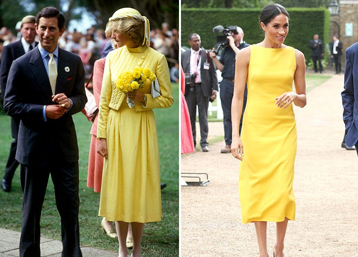 meghan markle diana yellow dress