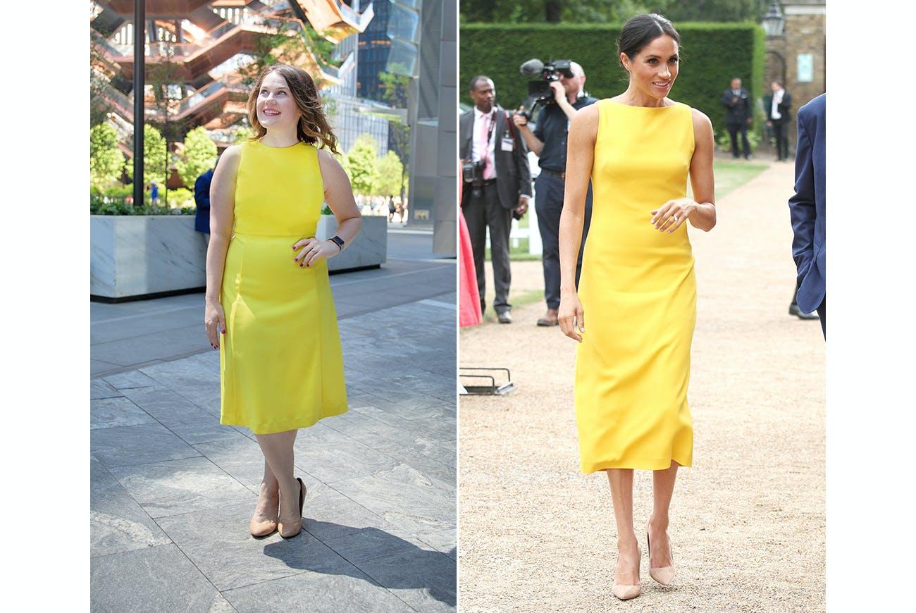 meghan markle rachel bowie yellow dress