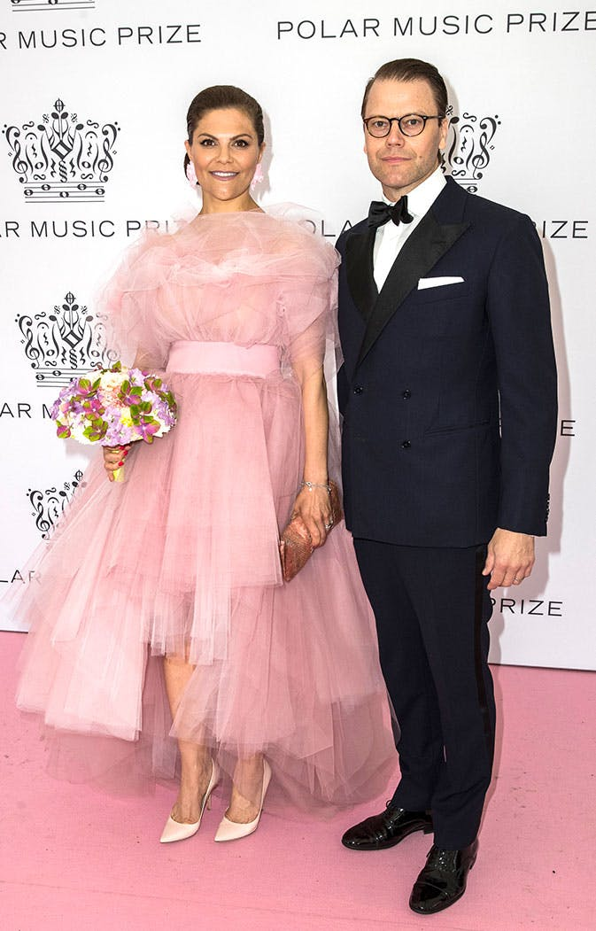 Princess Victoria of Sweden Was Pretty in Pink in a Tulle Ballgown, and Her Dress Matched the Carpet