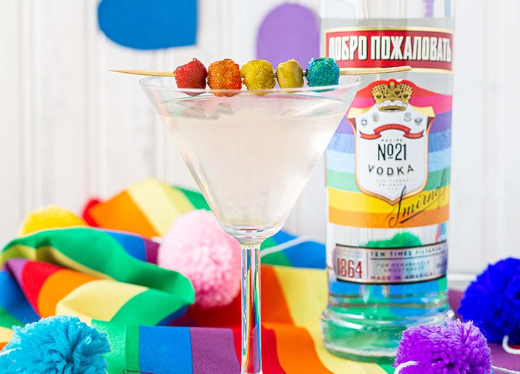 Exclusive: Laverne Cox Reveals How to Make the Ultimate Rainbow Olive Martini in Honor of Pride Month