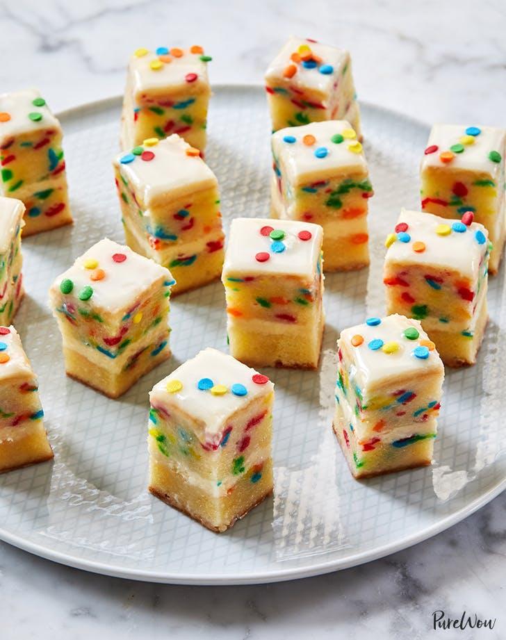 Birthday Cake Petit Fours