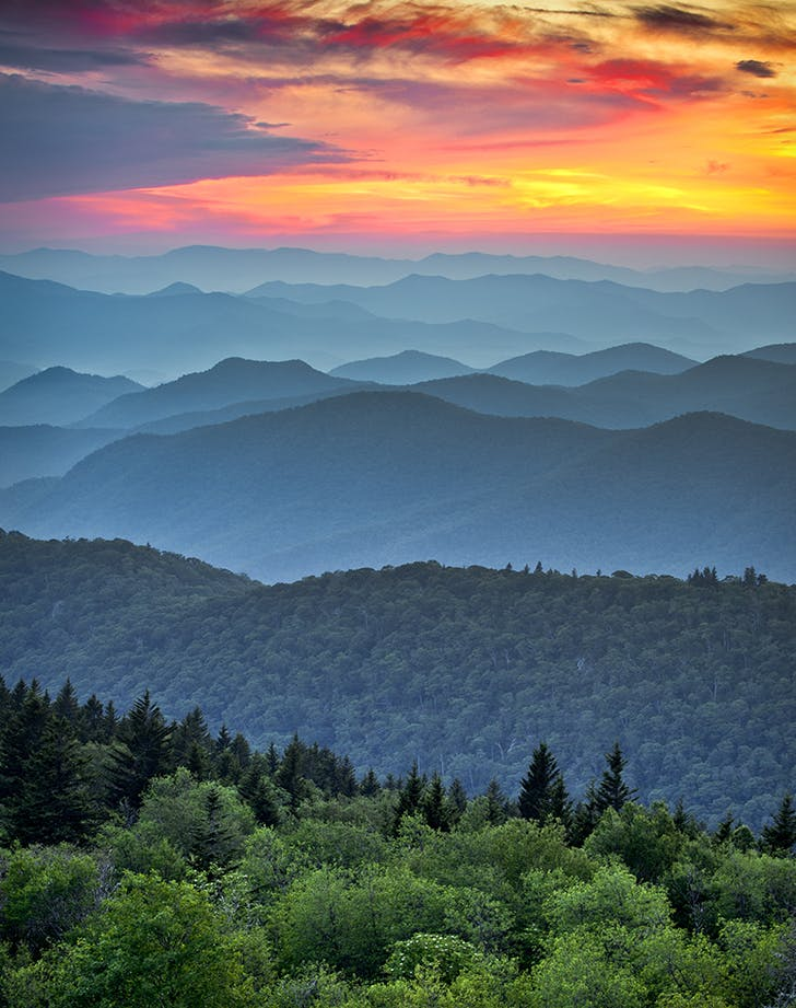 Blue Ridge Parkway Scenic Landscape Appalachian Mountains asheville