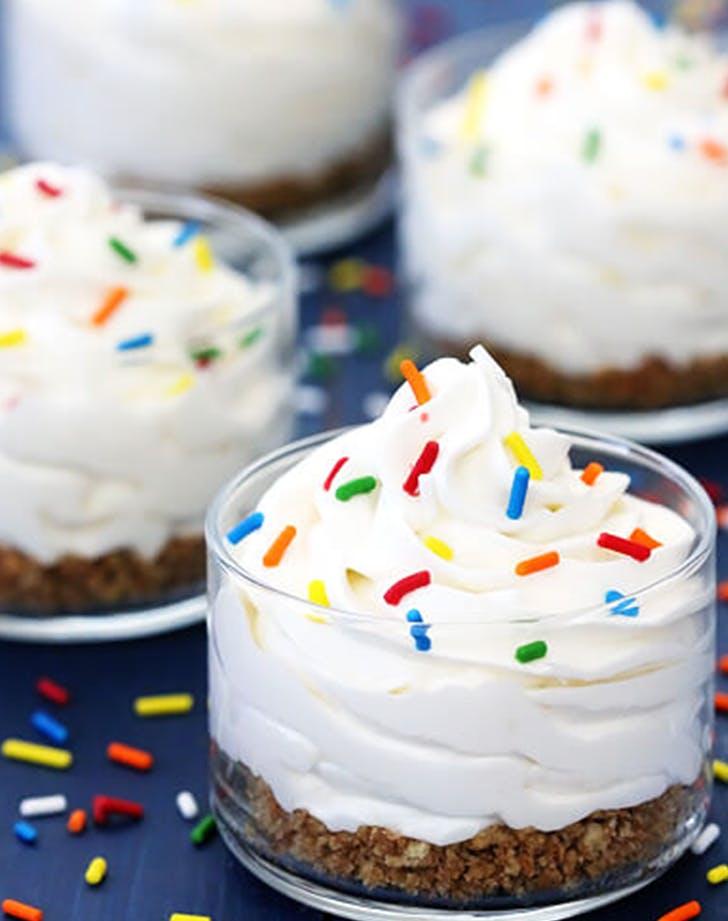 Cake Batter No Bake Cheesecakes