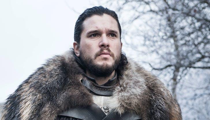Jon Snow on horseback