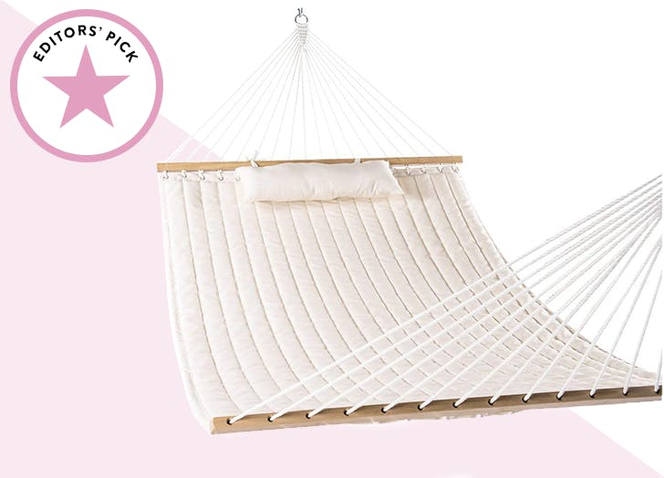 Lazy Daze Hammocks Double Quilted Fabric Swing with Pillow