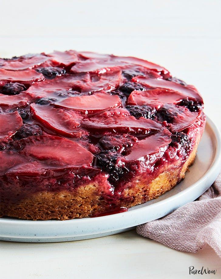 Blackberry Plum Upside-Down Cake