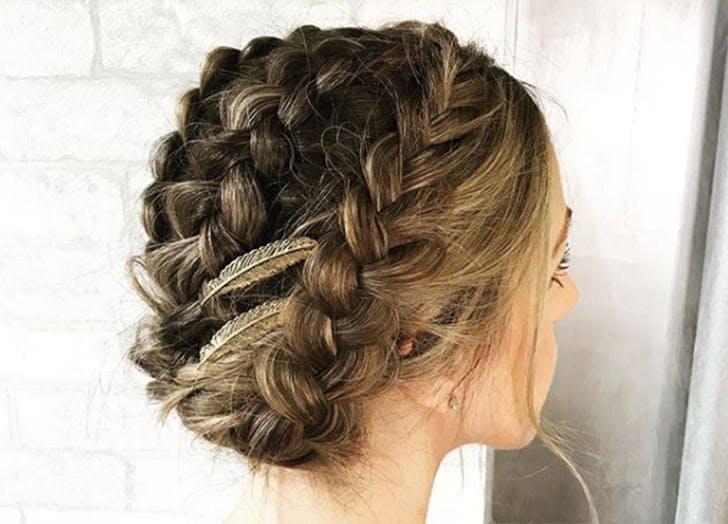 braided hair updo