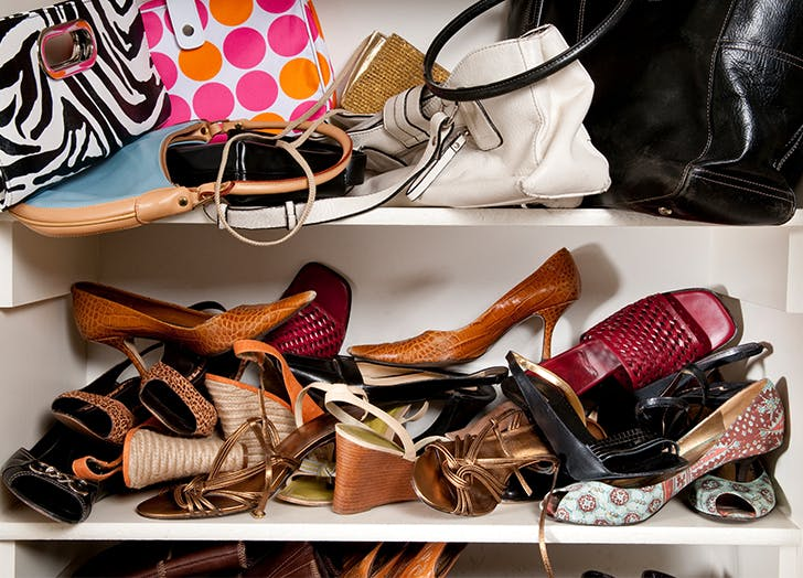 declutter messy shoes