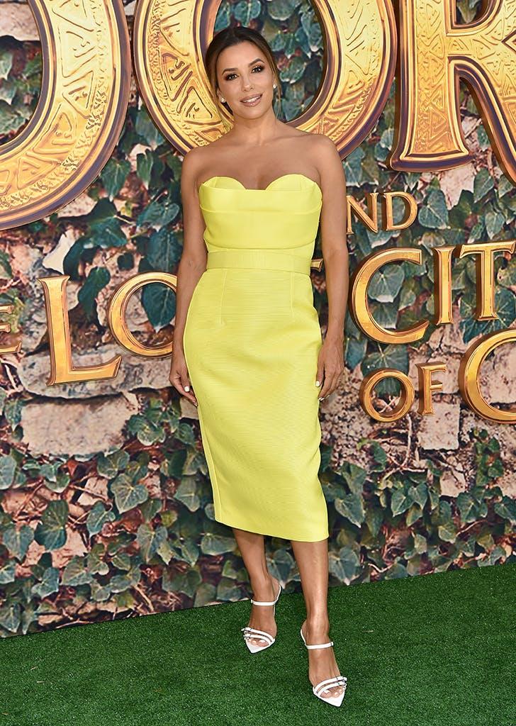 Eva Longoria Stuns in Yellow at 'Dora' Premiere - PureWow