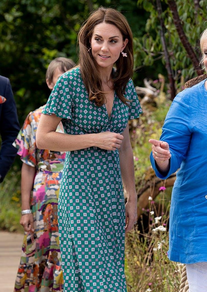 kate middleton green sandro dress