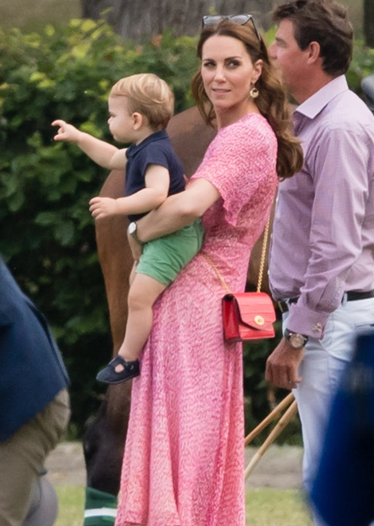 kate middleton prince louis charity polo match