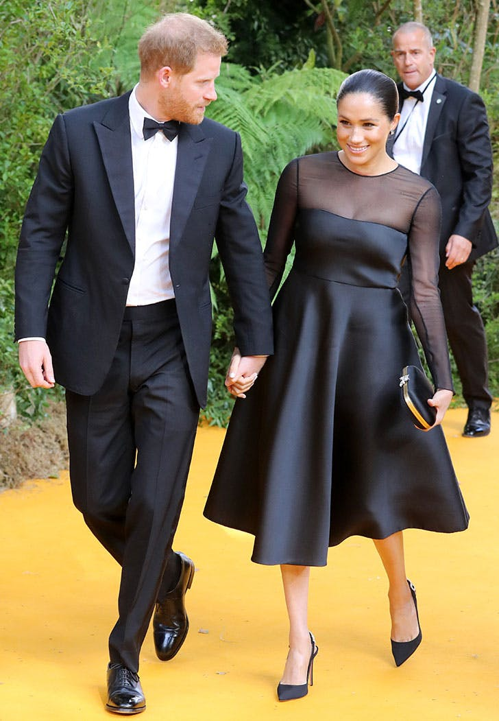 meghan markle lion king premiere