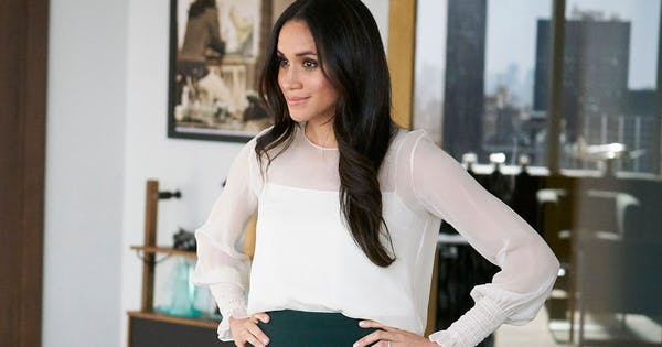meghan markle s pre royal tv outfits from suits are currently on display purewow meghan markle s pre royal tv outfits