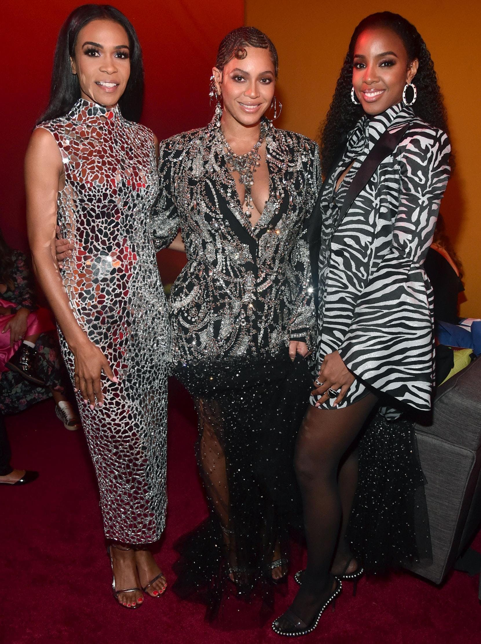 michelle williams beyonce and kelly rowland at the premiere of the lion king