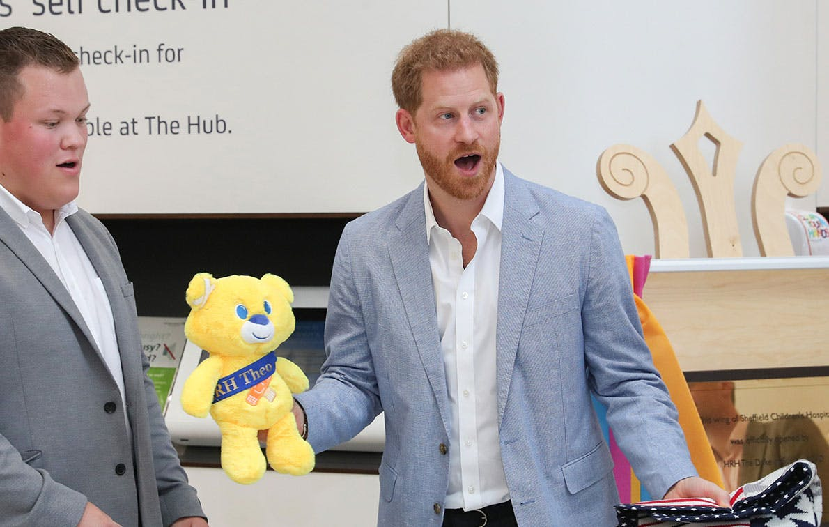 prince harry childrens hospital theo teddy bear
