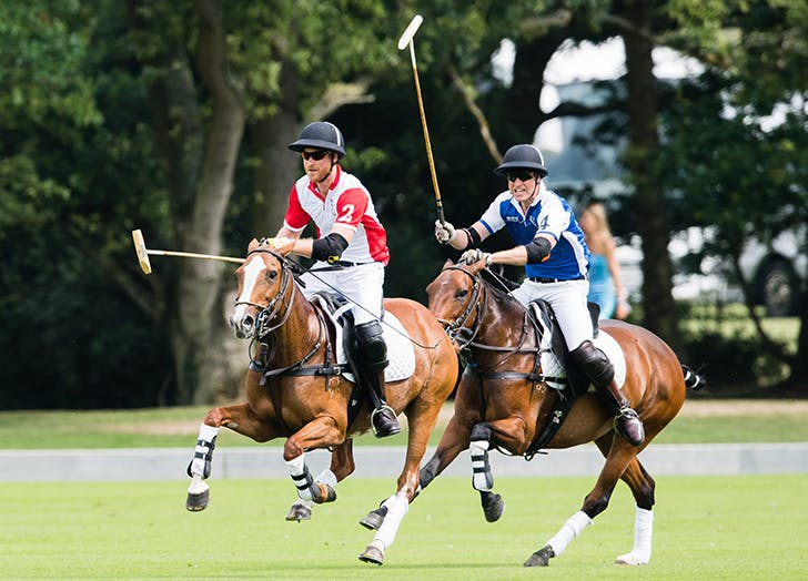 The First Photos of Harry and William Battling It Out in Todays Polo Match Are In
