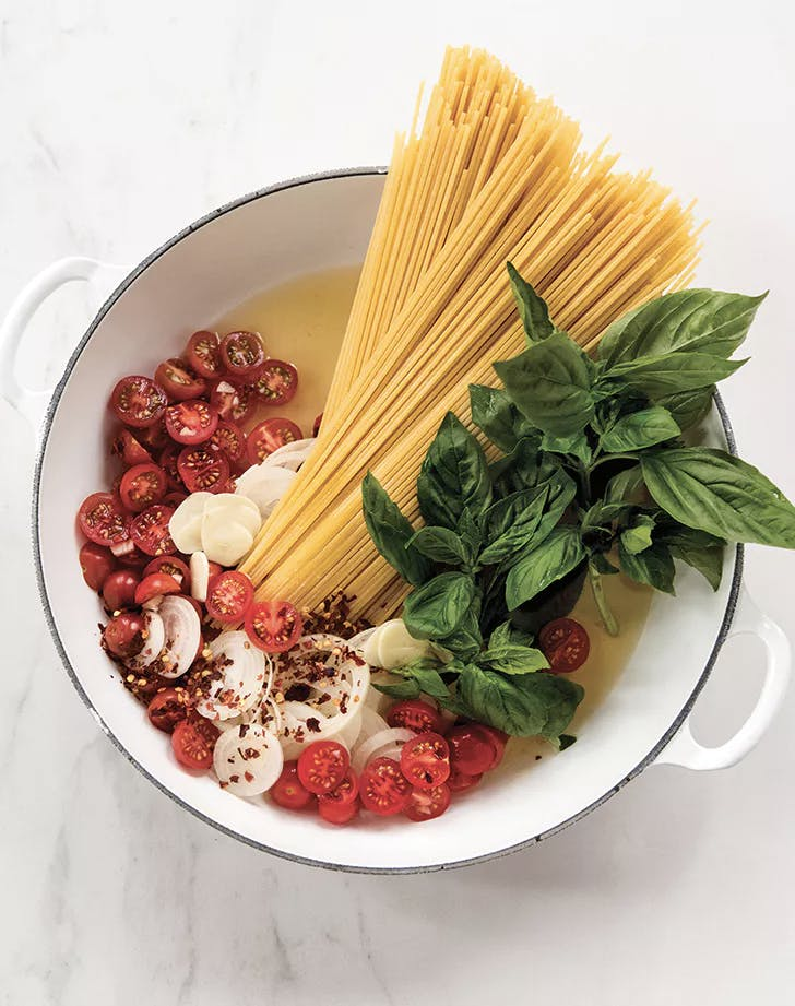 weeknight pasta recipes one pot tomato basil pasta recipe