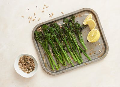 zesty chargrilled broccolini 400