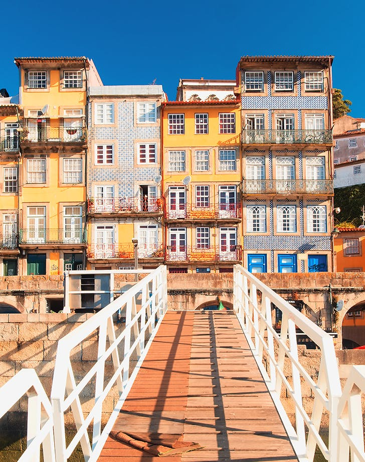 Houses at the Ribeira do Douro in porto