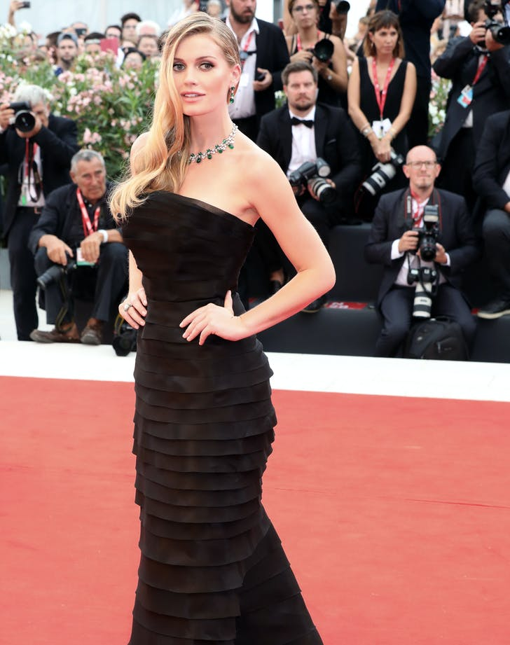 Lady Kitty Spencer venice film festival outfit