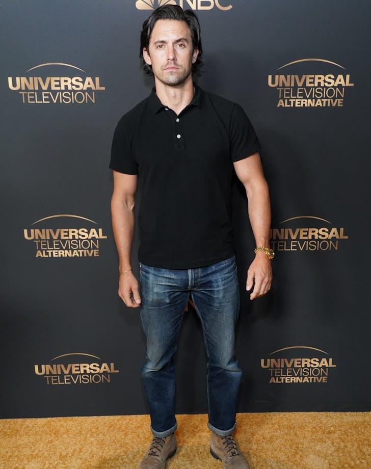 Milo Ventimglia red carpet jeans