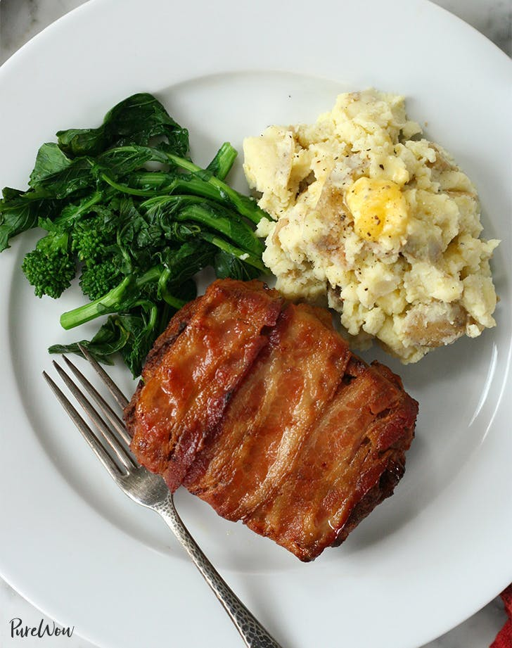 Mini Bacon Wrapped Meatloaf Recipe