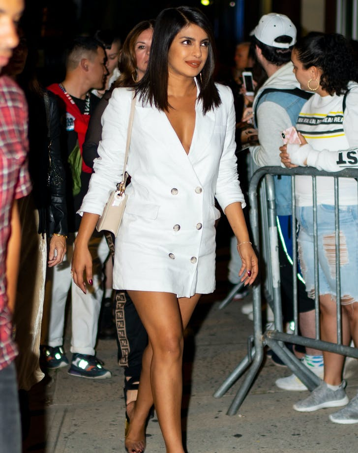 Priyanka Chopra in white blazer dress