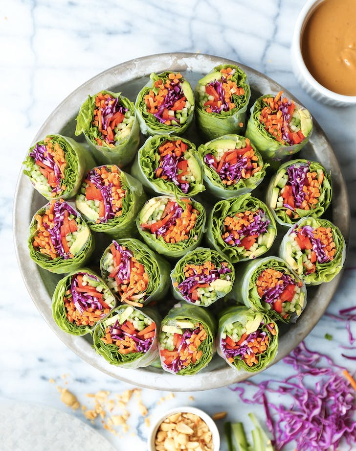 Vegetable Spring Rolls With Peanut Sauce vegan kids recipes
