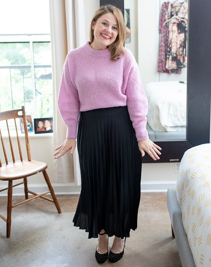Zara Shopping Spree Pleated Skirt