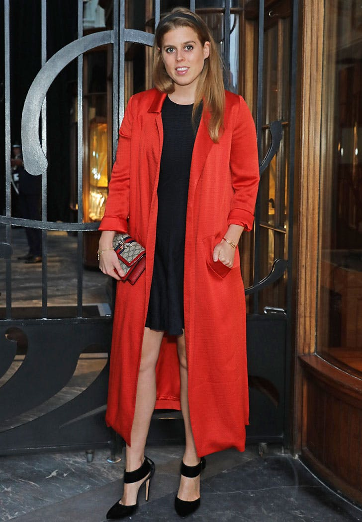 beatrice style red robe coat