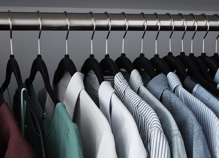 black non slip velvet hangers