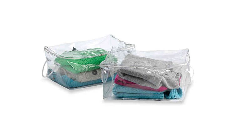clear under bed storage bags